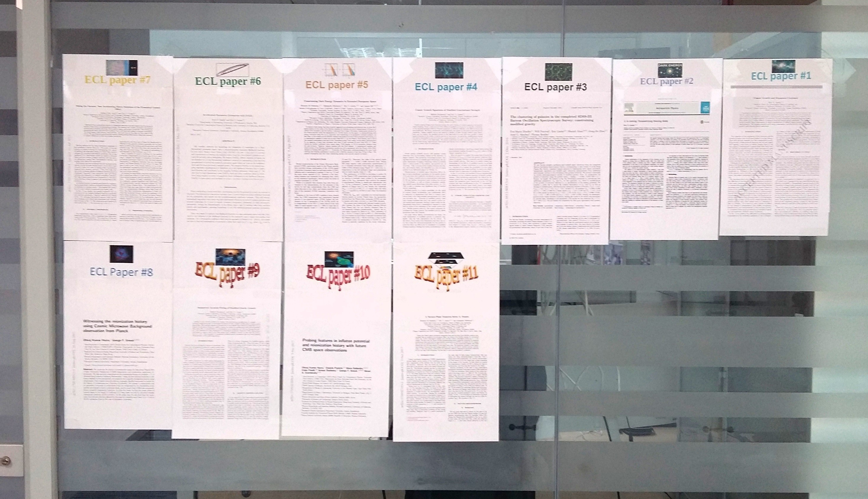 2017 ECL published papers wall